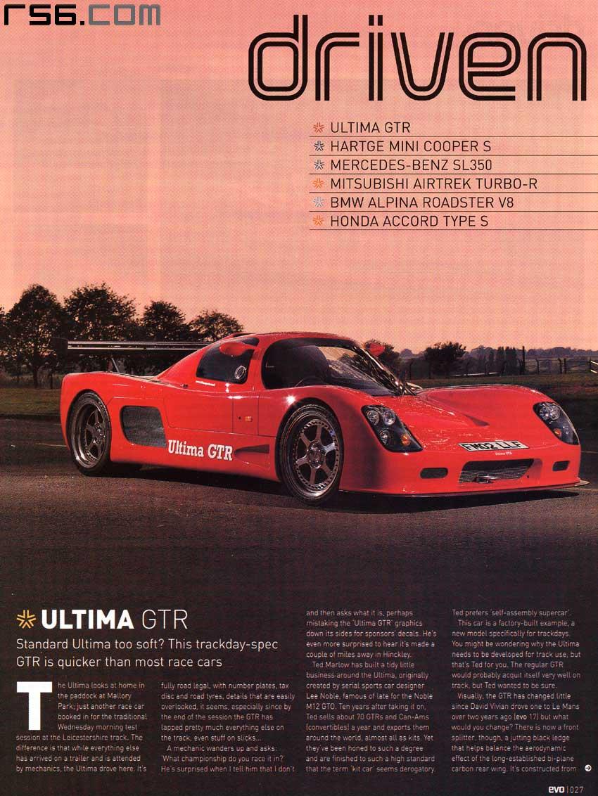 EVO: Ultima GTR driven